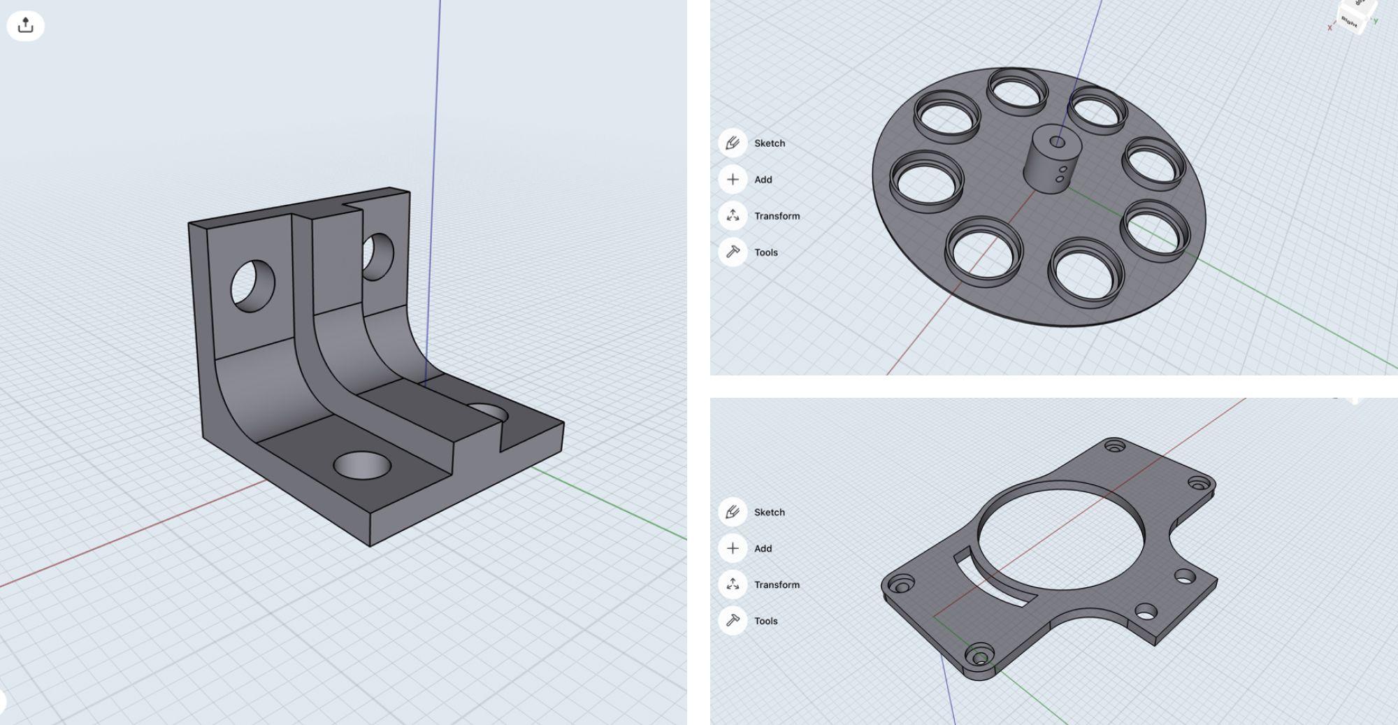 Assemtica Robotics jigs modeled in Shapr3D