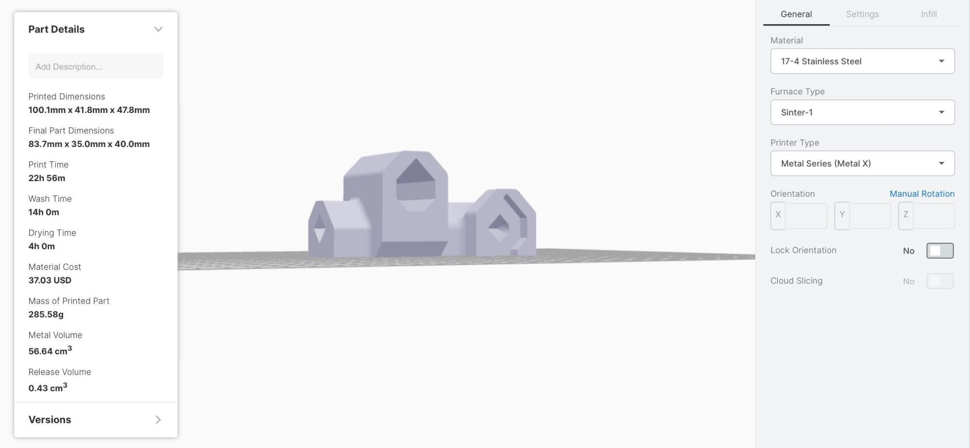 Black and Decker housing model in Eiger software