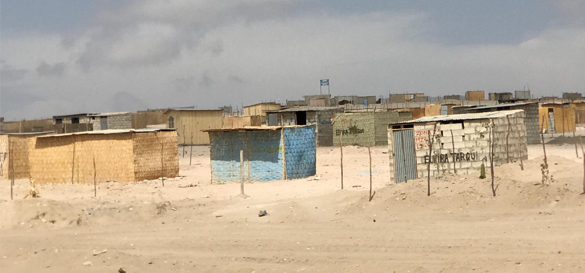 Rural housing near the Peruvian city of Tacna