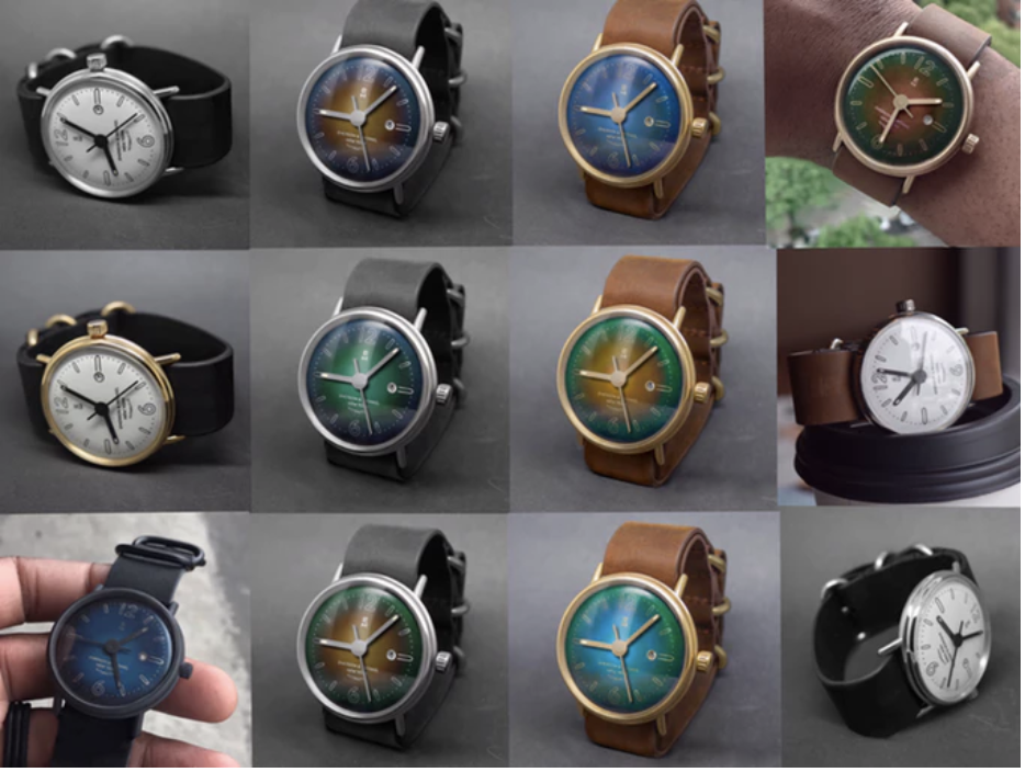advertising images for custom hand watch on kickstarter