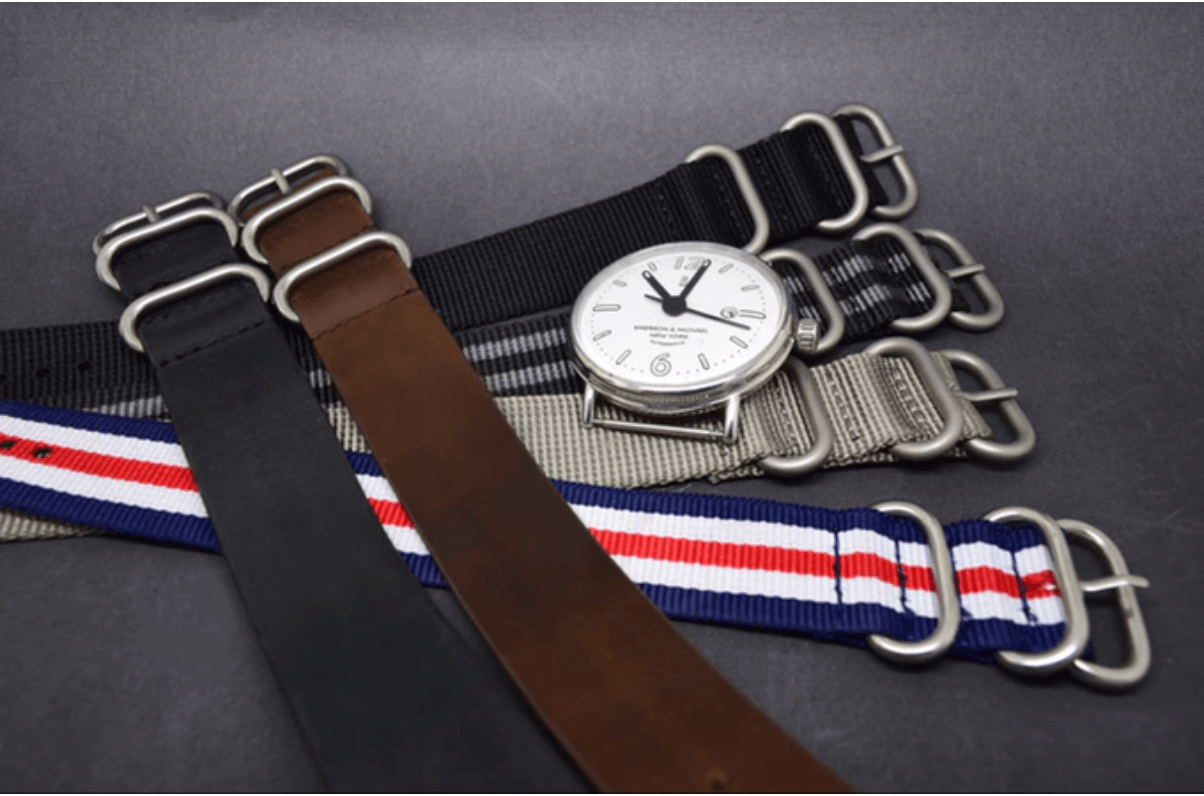 alternate watchstraps for custom handwatch on kickstarter
