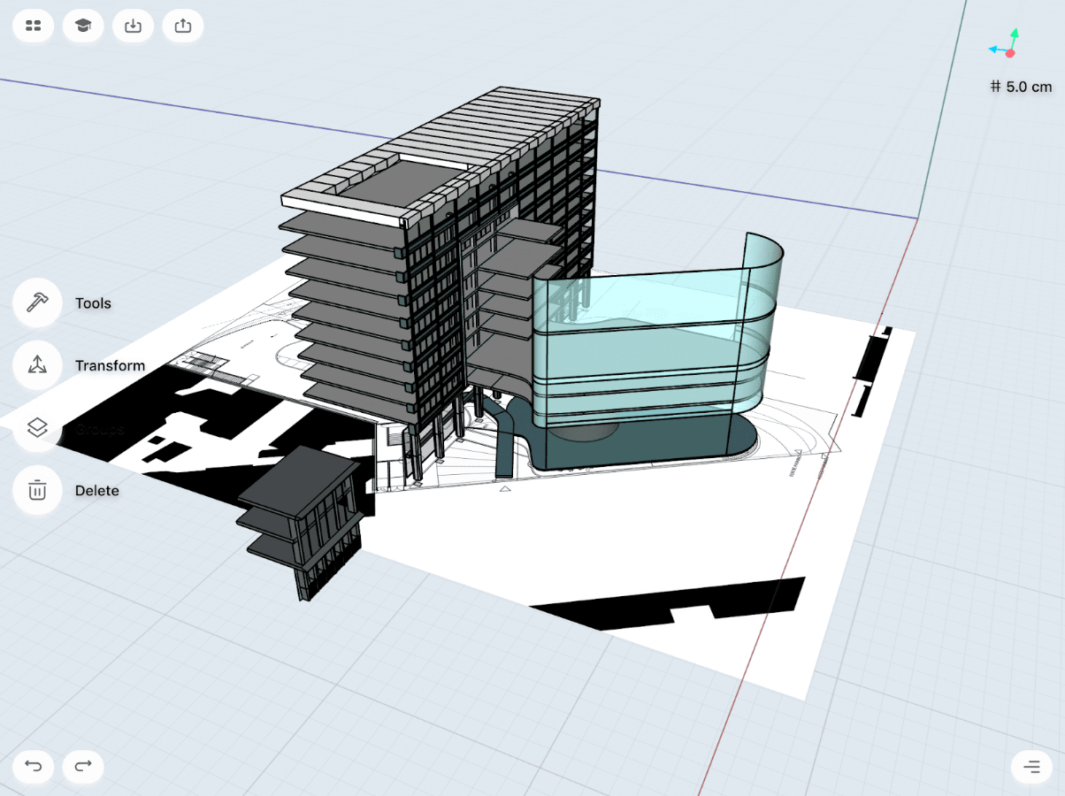 architecture model in shapr3d