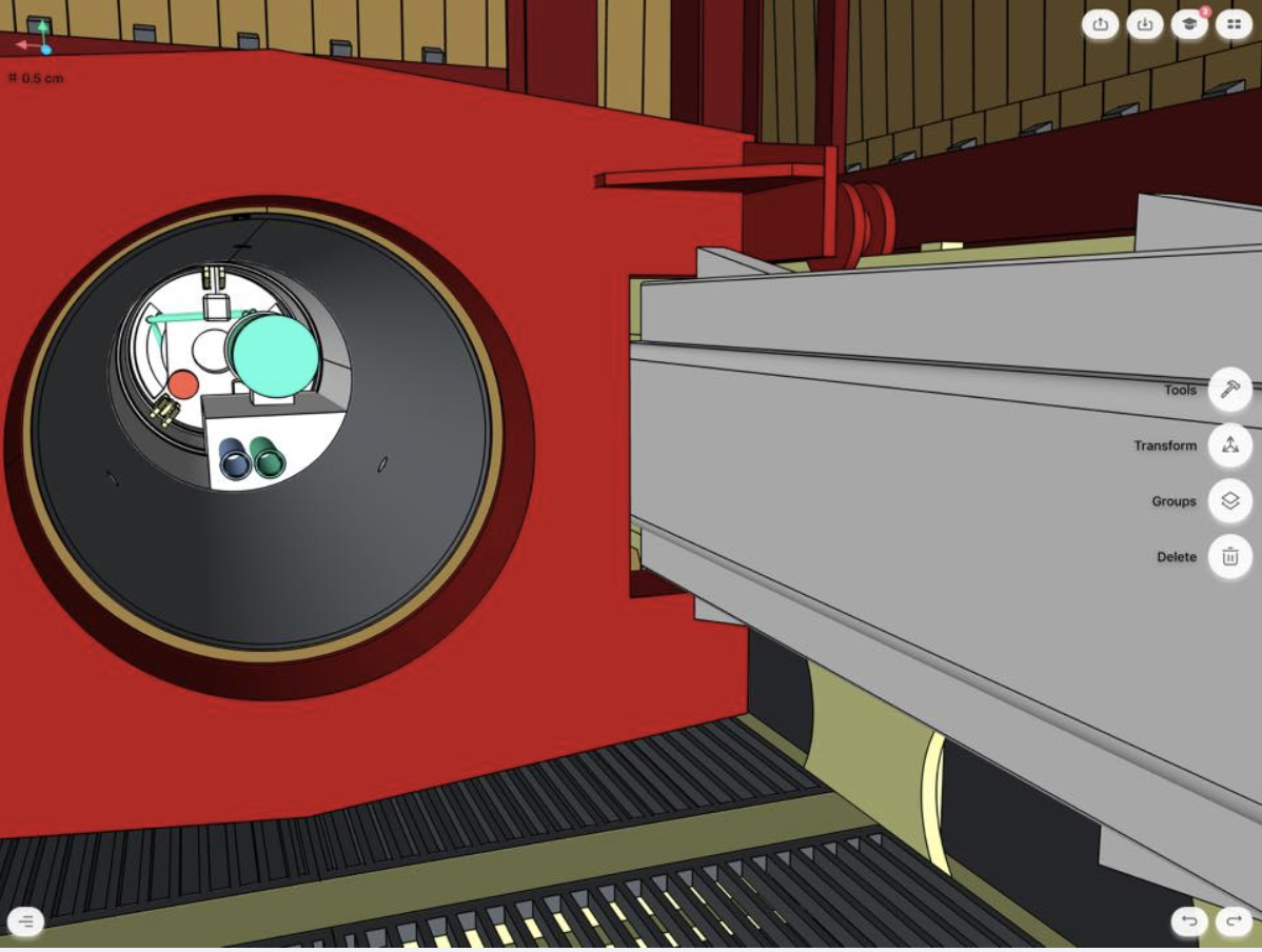 detail of the inside of boring machine