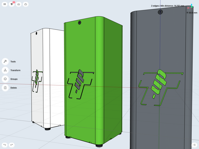 product concept 3d model in shapr3d