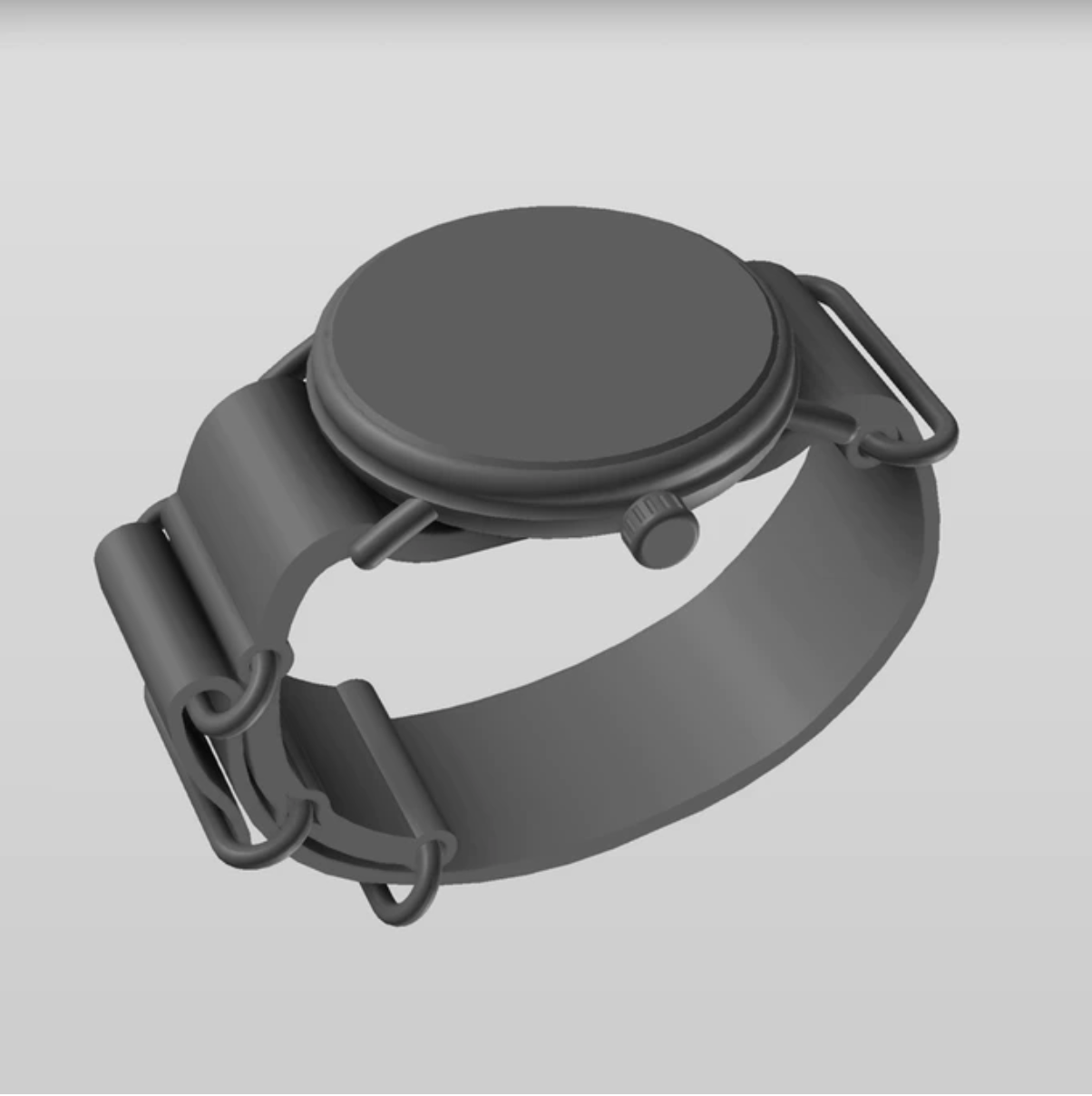 product concept render of custom watch
