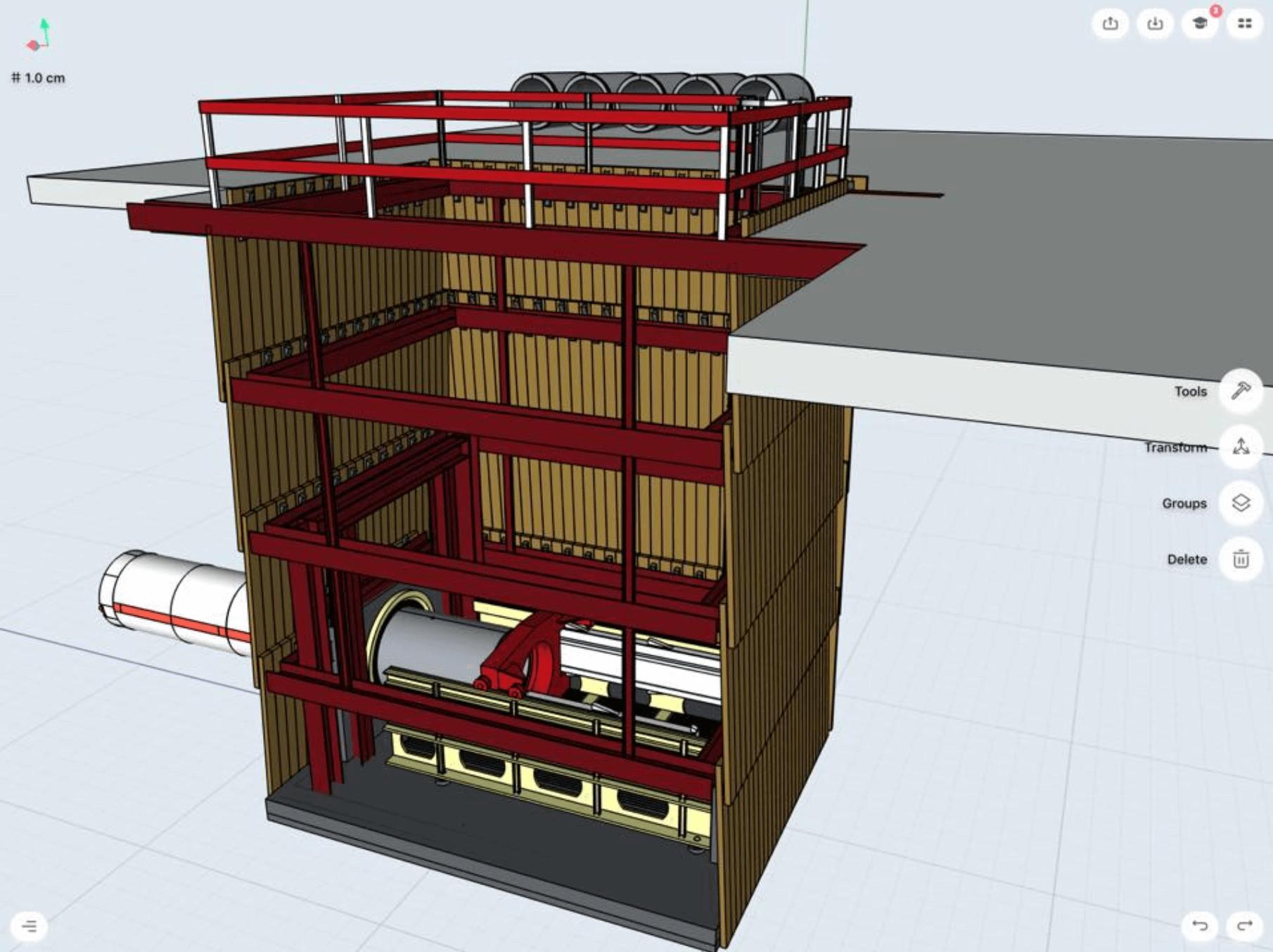 underground boring machine built in shapr3d